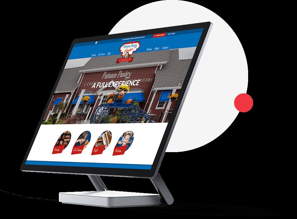 custom website design for Putnam Pantry